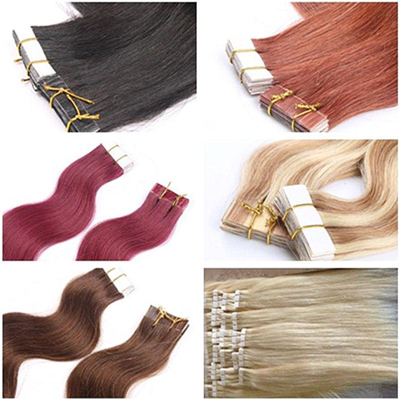 Hot Sales Tape In Human Hair Extensions Skin Weft Indian Remy Hair