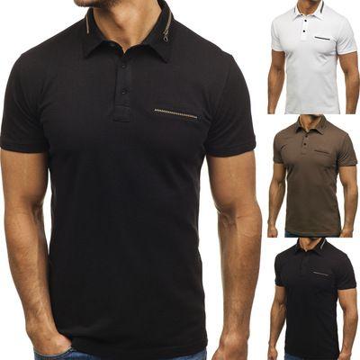 46522b55d 2019 Summer Autumn Wear Sports Polo T Shirt Solid Color Zipper Plain Color  Cotton Mens Classic Design Polo Shirt From Thorzhou