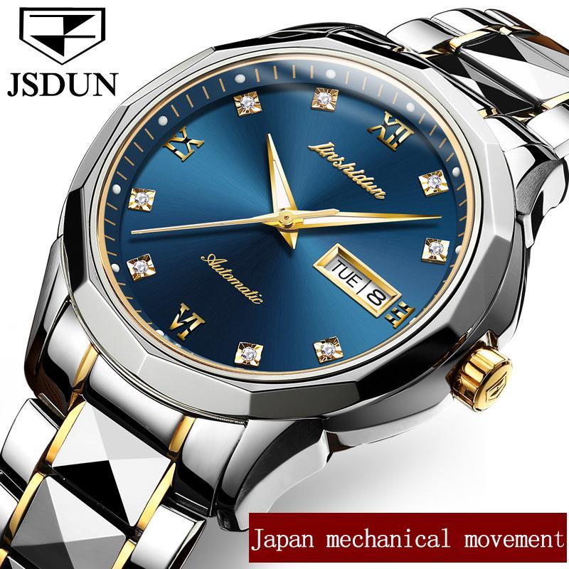 e798863c1e3 Compre Relógios Masculinos Relógio Masculino Marca De Luxo Bem Conhecida  Marca JSDUN Japão Relogio Masculino Relógio Mecânico Automático Homens ...