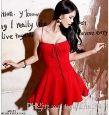 Ücretsiz kargo yeni stil sıcak satmak rahat elbise kadın spagetti sapanlar elbiseler seksi şifon elbise liqinghui2011
