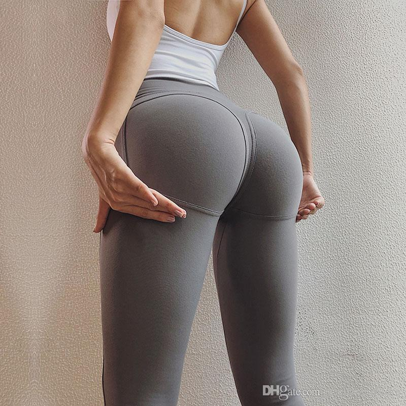 f189e66ea4d 2019 Sexy Big Booty Leggings For Women Sport Fitness High Rise Gym Tights  Scrunch Butt Leggings Push Up Athletic Leggings Sportswear From  Streetwearstore