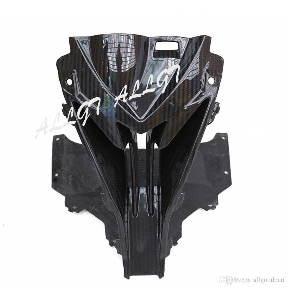 Pieza de moto de fibra de carbono REAL para 2015 2016 2017 BMW S1000RR Entrada de aire de nariz central superior Ram carenado negro