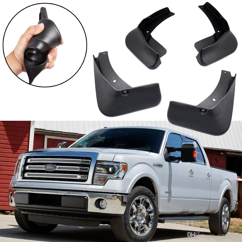 Nouveau 4pcs Car Flaps Flash Guard Garde-boue Garde-boue adapté pour Ford F-150 2004-2014 Pick-up