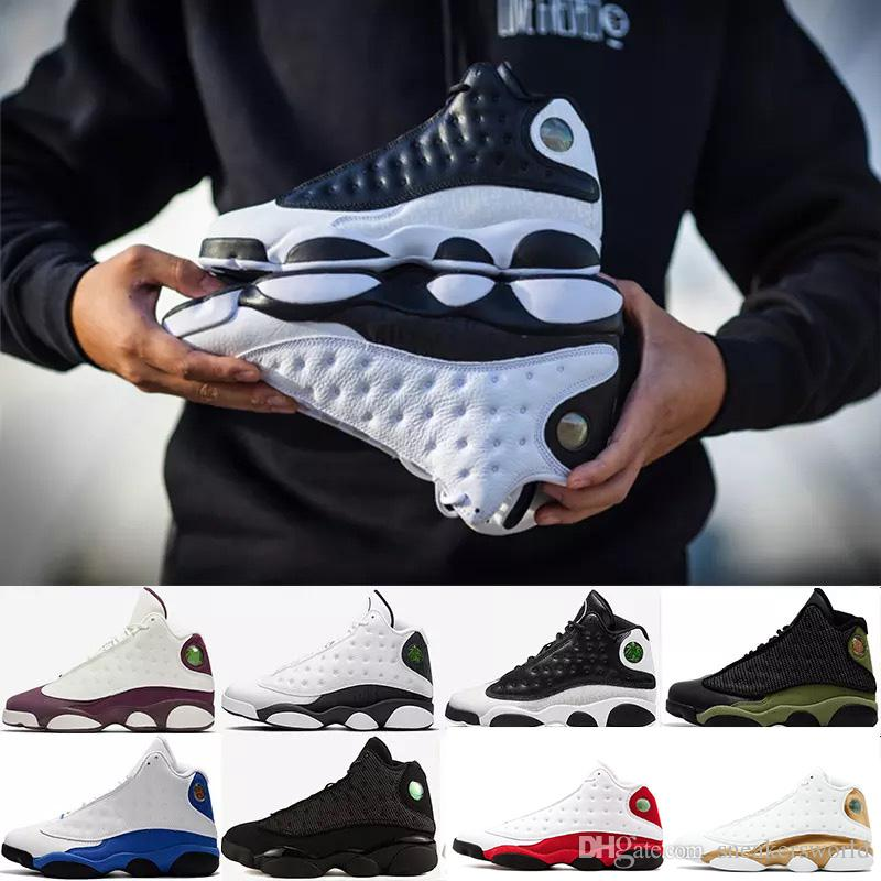 896a2b010478 13s Mens Hyper Royal Pure Money Black Cat Playoffs Hyper Navy DMP  Basketball Shoes 13s Sports Shoes Sneaker Size 41-47 13s Shoes Basketball  Shoes 13s ...
