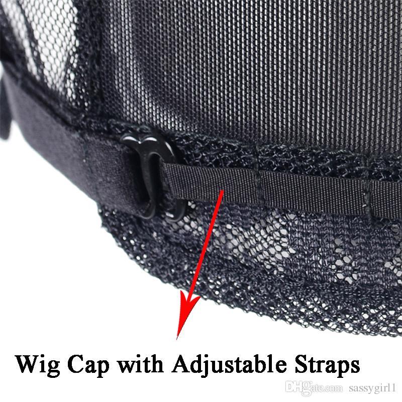 Partie U Capsules de perruque avec filet de dentelle pour la fabrication de perruques à lanières réglables / Capsules de perruque sans colle pour la fabrication de perruques
