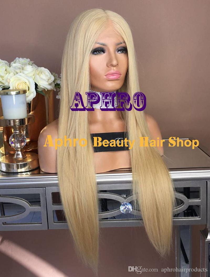 "Wholesale 5""x5"" Silk Top Platinum Blonde Straight Full Lace Wigs for White Women 20-30 inch 180% Density Luxury Quality European Hair Wigs"