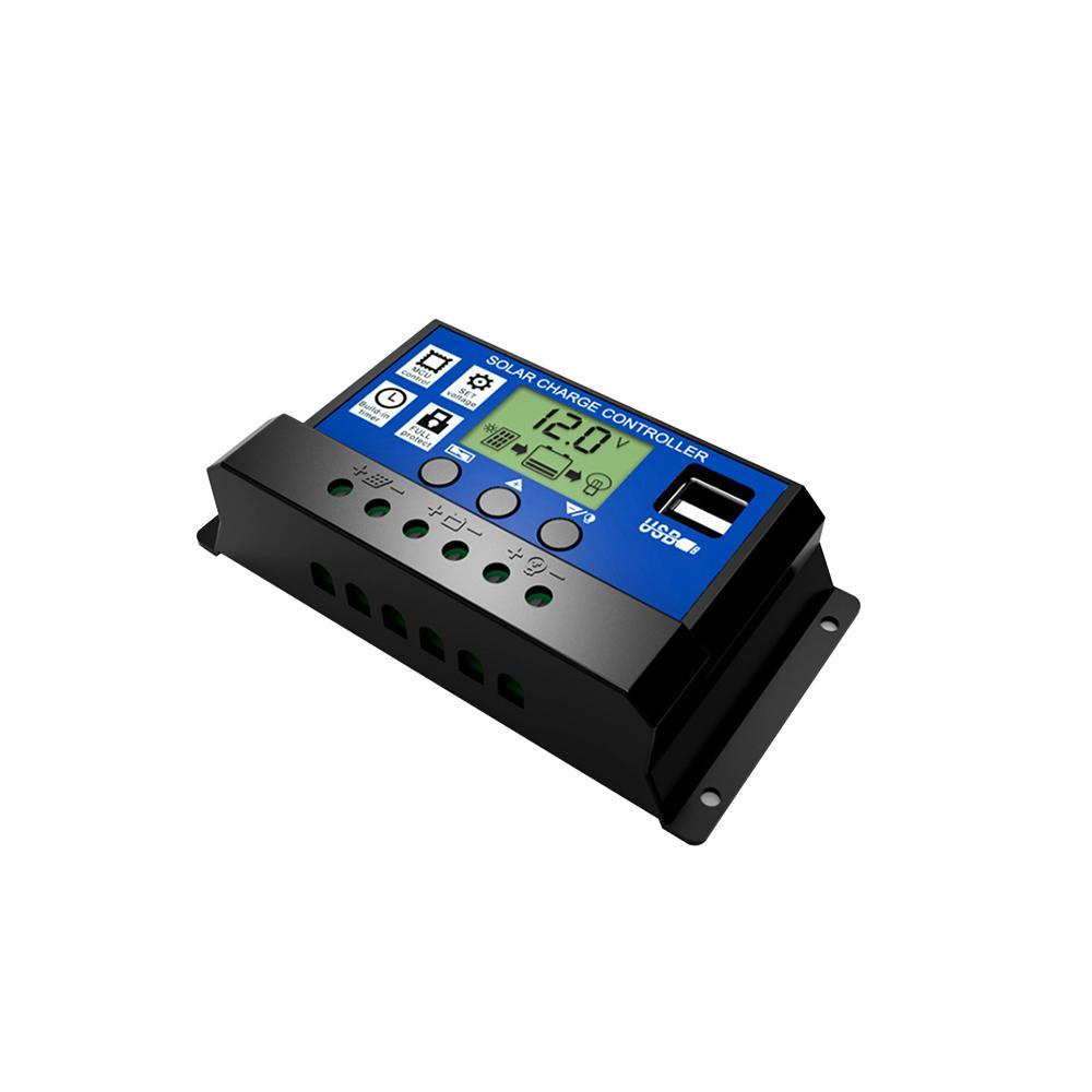 Regulador solar inteligente multiuso de la carga del LCD del regulador solar con la interfaz dual del USB de HD para el hogar o industrial