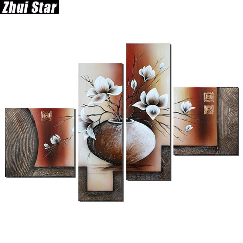 Großhandel 5d Diy Full Square Diamant Malerei Blume Multi Bild Kombination  Stickerei Kreuzstich Mosaik Home Decor Von Meinuo005, $39.03 Auf De.Dhgate.