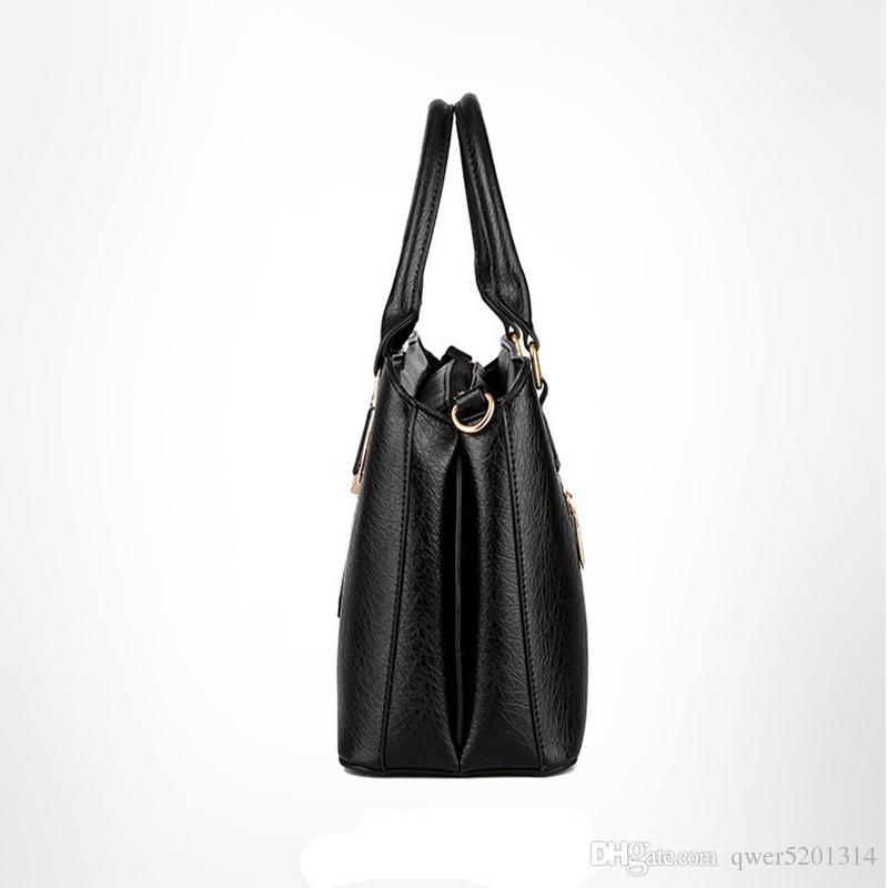 Women Leather Handbags Shoulder Bags Hot Medium new fashion handbags leather satchel all-match laptop bag
