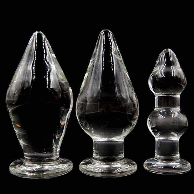 Giocattoli del sesso anale di vetro