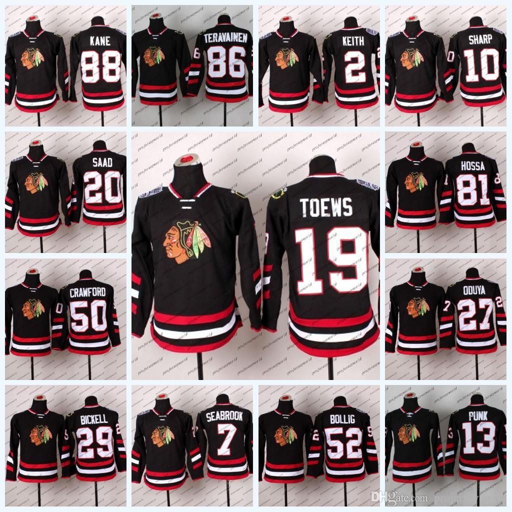 a8496c7e1 2019 Youth 2014 Stadium Series Chicago Blackhawks 19 Jonathan Toews 81  Marian Hossa 88 Patrick Kane 50 Corey Crawford Hockey Jerseys From  Projerseyworld