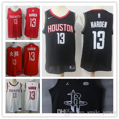 1d6fda58b ... uk 2019 new mens 13 james harden houston rockets basketball jerseys  authentic stitched embroidery mesh dense