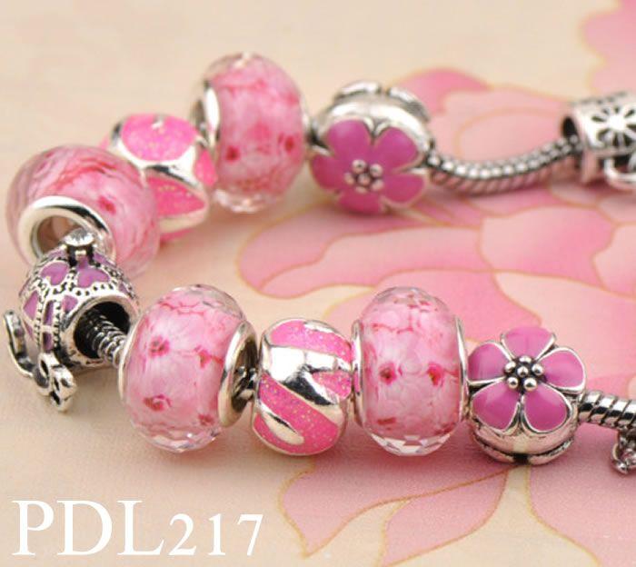 a636128cc Charm Bracelet Silver Pandora Bracelets For Women Royal Crown Bracelet  Purple Crystal Beads Diy Jewelry With Custom Logo PDL109 217 Charm Bracelet  Brands ...