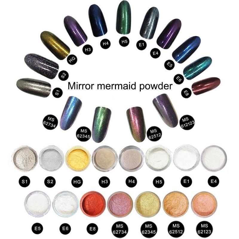 Newair Shiny Aurora Mirror Nail Powder Dust Metallic Colorful ...