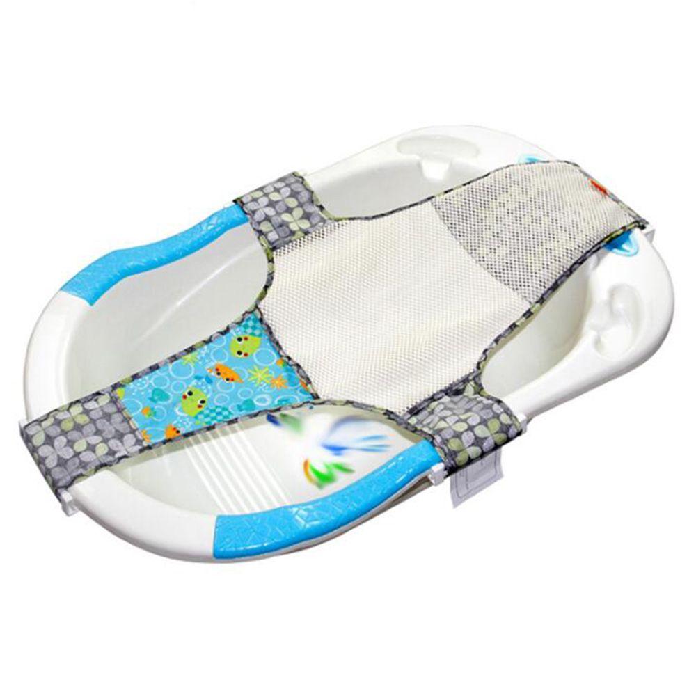 2018 36inch Kids Newborn Baby Cross Shape Bath Tub Mesh Net Foldable ...