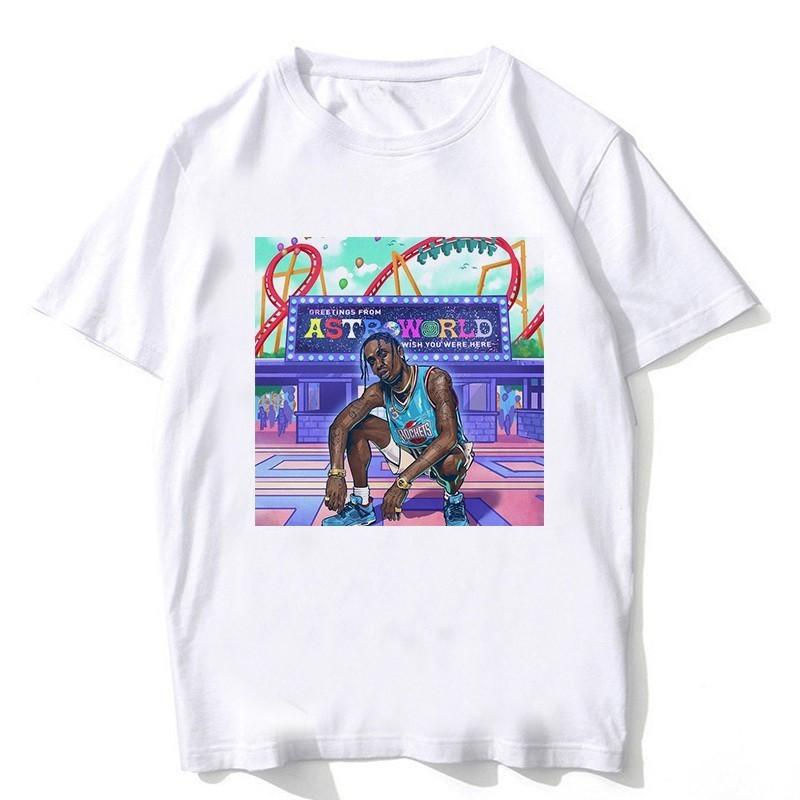 55261bfb51f Newset Hip Hop Travis Scotts ASTROWORLD Harajuku T Shirts Men Clothes 2018  Tops Short Sleeve TShirt Print Plus Size Dropship Fashion Shirt Tee Shirt  Designs ...