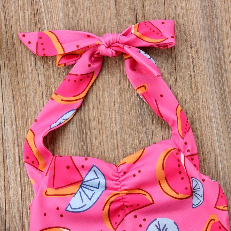Pink Swimsuit Kids Baby Girls Watermelon One-piece Swimwear Bikini Bathing Suit Green Summer Cute Beachwear Summer Boutique Clothing