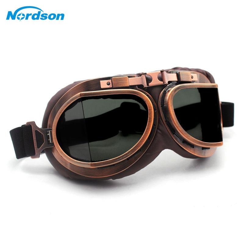 ad88dea9a2 Nordson Motorcycle Goggles Glasses Vintage Motocross Classic Goggles Retro  Aviator For Harley Protection Eyewear UV Protection Motorcycle Sunglasses  With ...