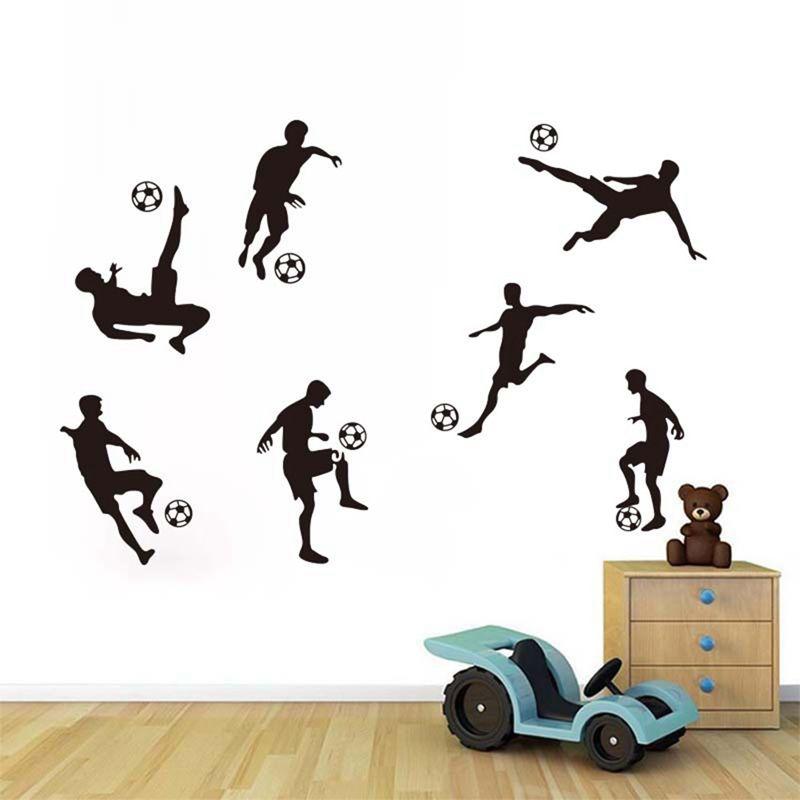 Soccer Ball Football Wall Sticker Decal Kids Room Decor Sport Boy Bedroom  Soccer Player Art Wall Decal Home Decor Wall Decals For Kids Rooms Wall  Decals For ...