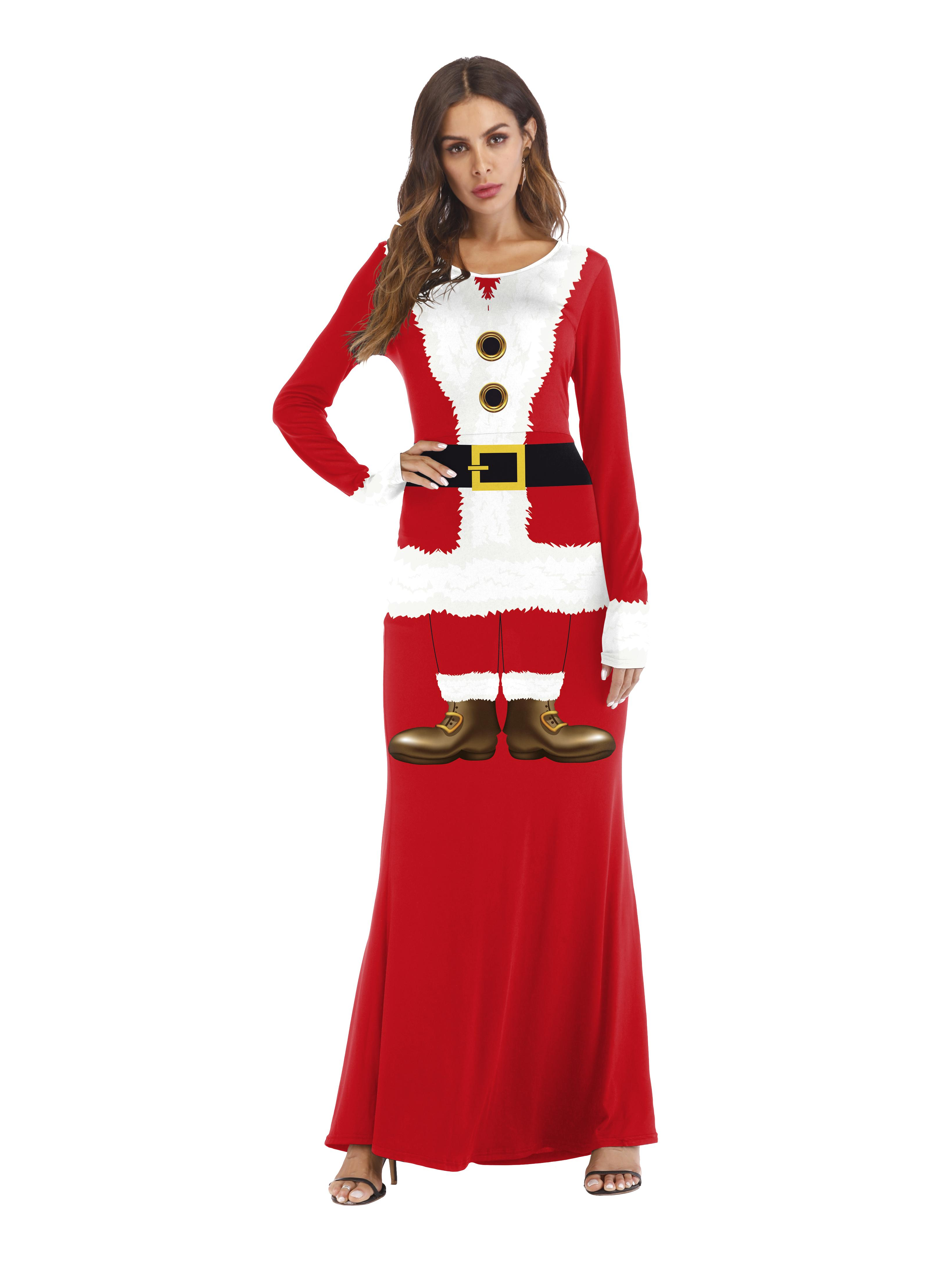 fd8a97b6982 2019 Vogue Of New Fund Of 2018 Christmas Cos Adult Leisure Garment Printing  Christmas Party Party Dress From Clothes zhang