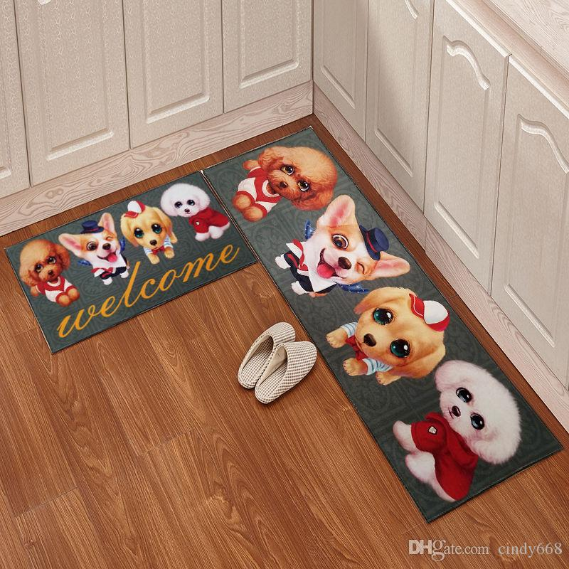 2018 Cartoon Kitchen Floor Mat Door Mat Mattress Bathroom Antiskid ...