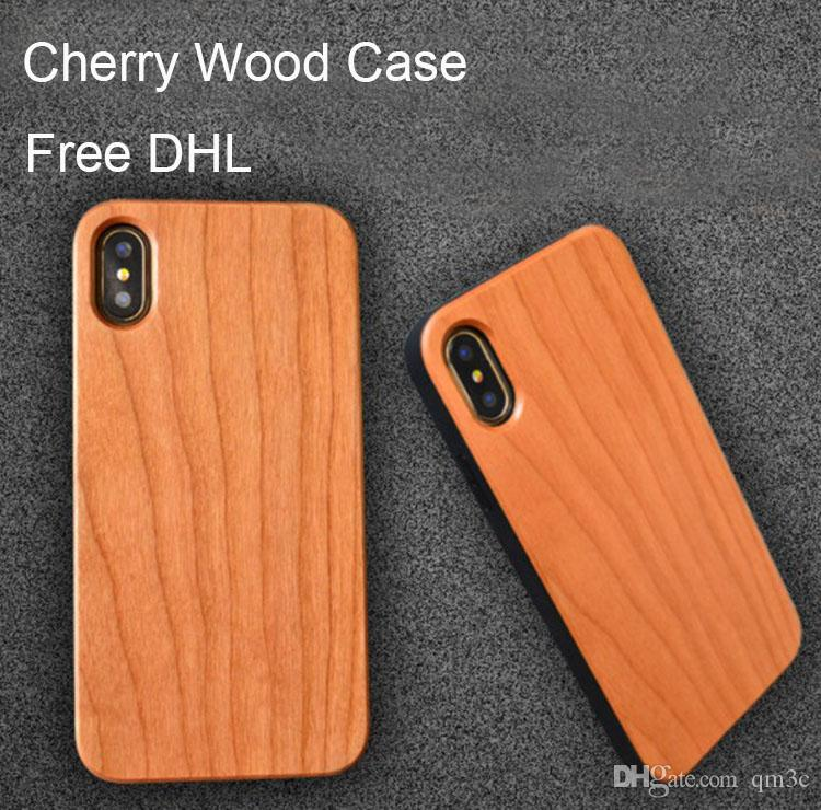 Bamboo Wood Case Custom For iphone 6 6s 7 8 5s X 10 Mobile Cell phone Cover Wooden TPU Anti-knock Back Shell For Samsung Galaxy S9 S8 S7 S6