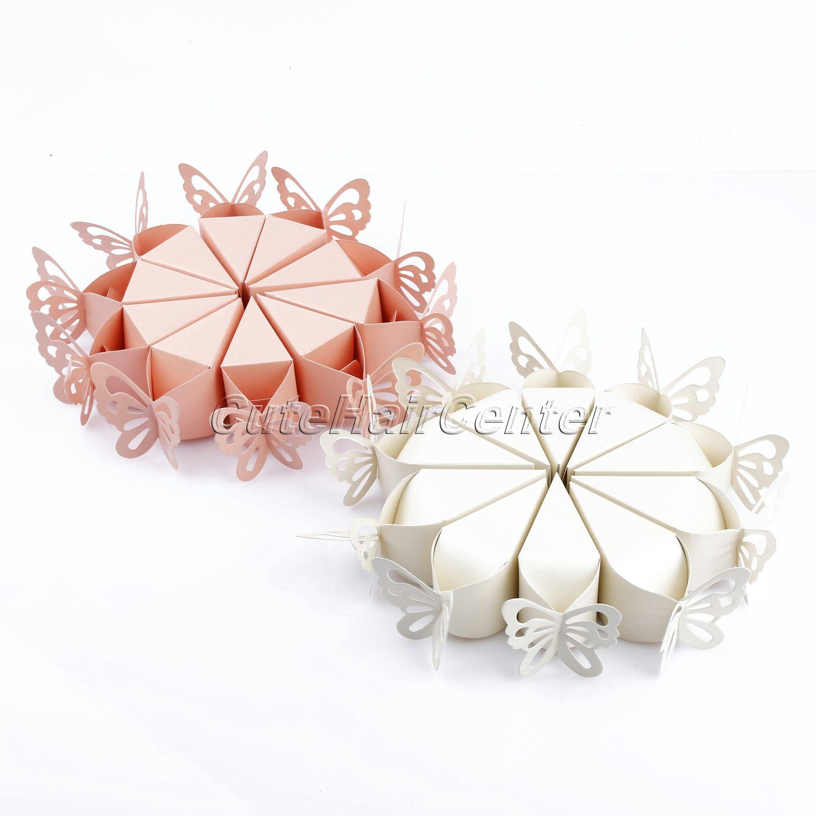 Wholesale- Fashion Pink/White Butterfly Party Wedding Favor Gift ...