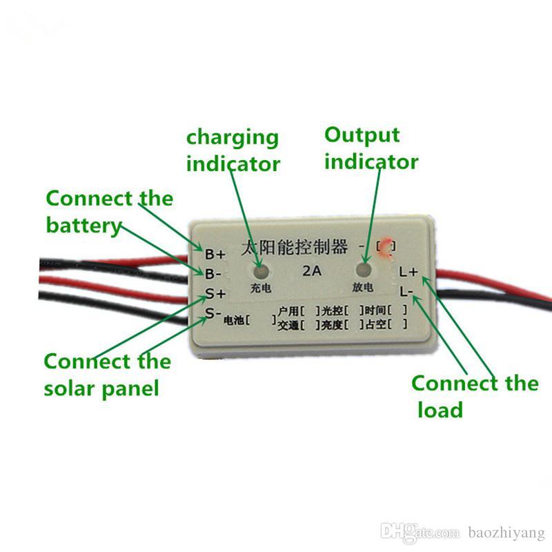 7.4V2A Solar lawn light controller Solar insecticide lamp controller mini solar controller