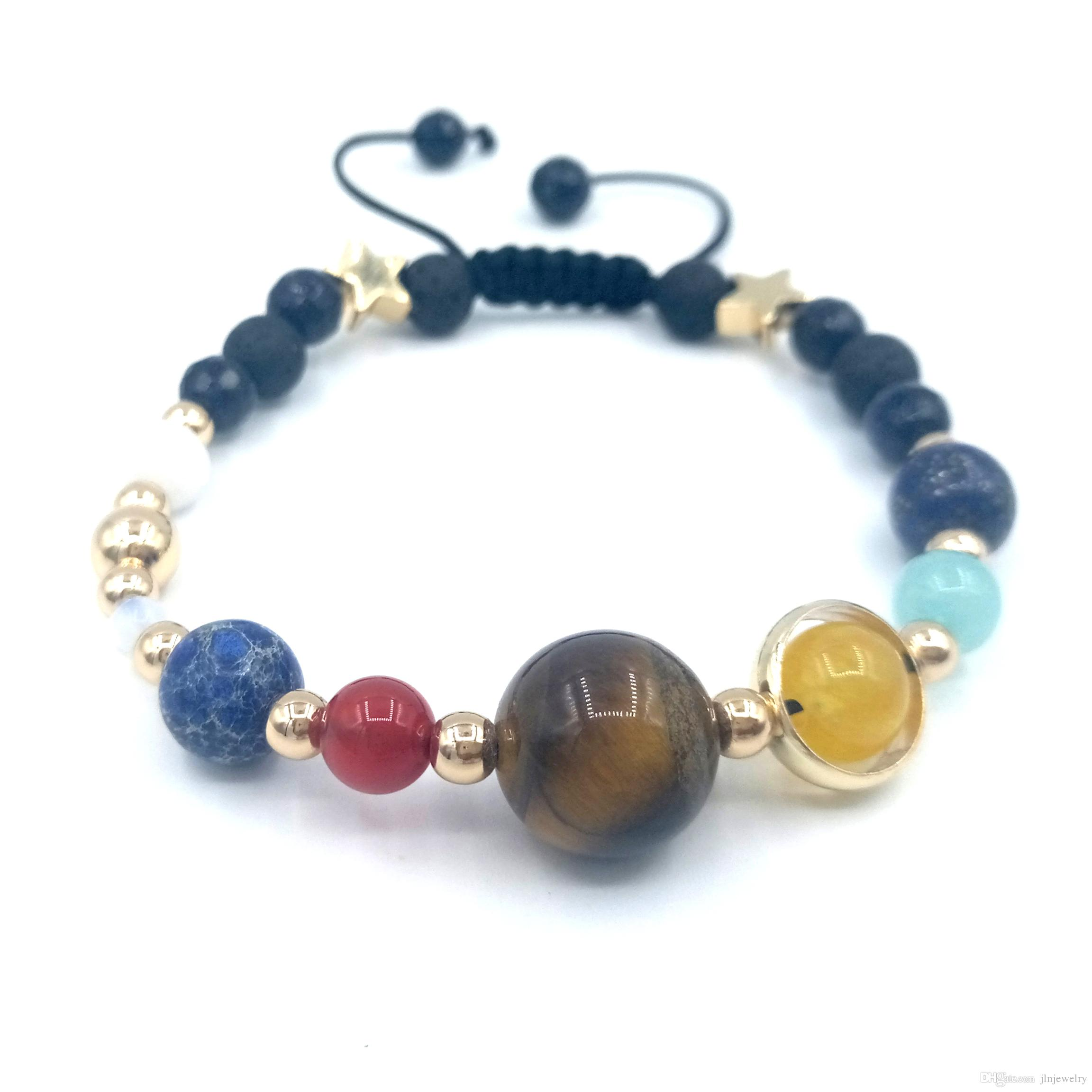 Helpful Hot Sale The Eight Planets Solar System Beads Bracelet Energy Star Natural Stone Chain Anklet For Women Gift Anklets