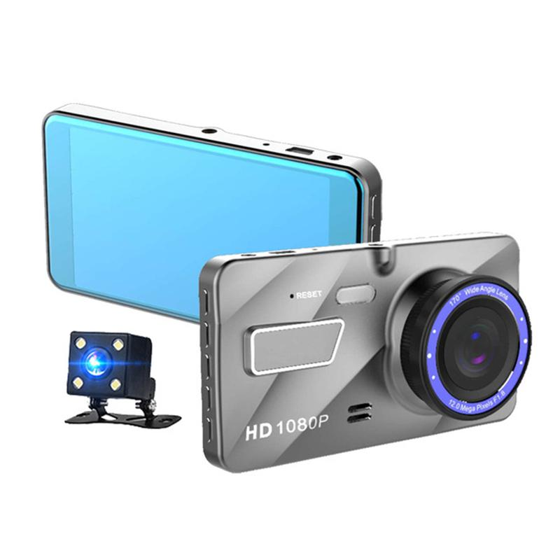 Full HD car DVR 2Ch front 170° rear 120° 1080P car dashboard camcorder WDR  G-sensor loop recording parking monitor dashcam video recorder
