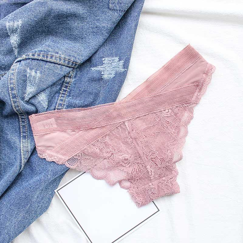 76acfd7c5e77 SP&CITY European Delicate Lace Floral Sexy Panties Sex String Women Hollow  Out Underwear Bandage Crotch Cotton