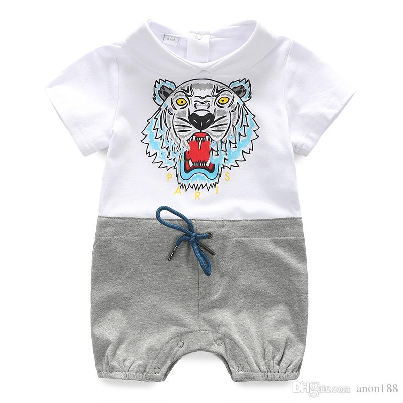 50bb0b3e6315 2019 Baby Boy Rompers Summer Cotton Short Sleeve Newborn Baby Girls Clothes  Roupas Bebe Infant Jumpsuits Toddler Kids Children Clothes Bodysuit From  Anon188 ...