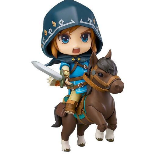 2018 New Good Smile Nendoroid Link Zelda Figure Breath of the Wild Ver DX Edition Deluxe Version Action Figure