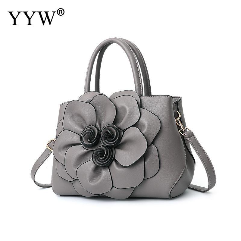 7915bcbb96e Grey Women Handbag Wholesale 3d Floral Top Handle Hand Bags Designer Ladies  Totes Shoulder Hand Bag Large Capasity 2018 Dropship