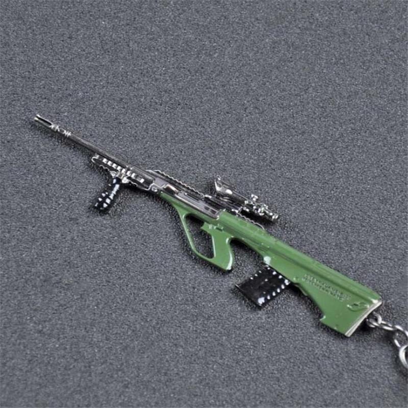 2018 горячая PUBG игра имитация пистолет брелок оружие снайпер 11 дизайн автомобиля брелок PLAYERUNKNOWN в BATTLEGROUNDS брелоки для друга подарок