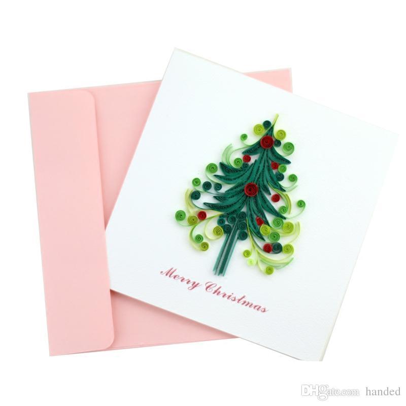 Christmas Tree New Year Christmas Card Custom Korean Creative Hand ...