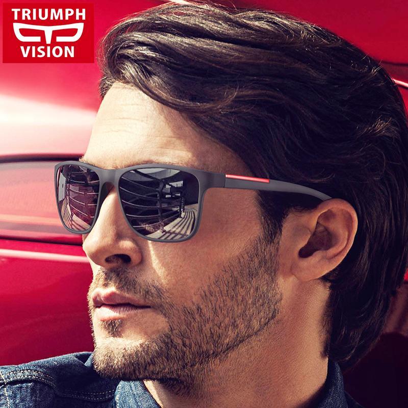 eff865792ed TRIUMPH VISION Black Square Sun Glasses For Men Gradient UV400 Sunglasses  Men Brand Designer 2017 New Oculos Shades Male Fashion Brand Sun Glasses  Designer ...