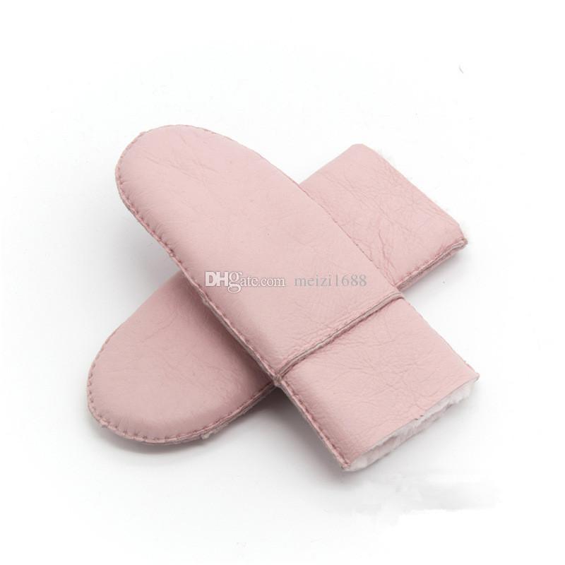 Livraison gratuite de nouveaux gants sans doigts pour femmes en cuir de pure laine chaude gants de dames chaudes