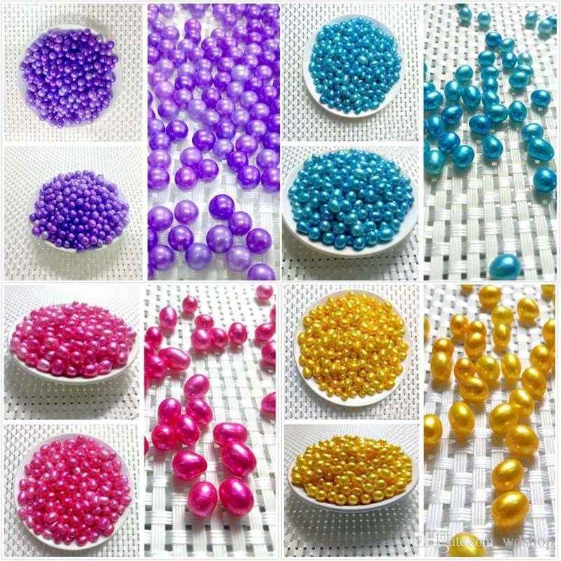 Süßwasser-Zuchtperlen-Austern mit 9 Stück 6-8 Mm Oval-Form-Perlen-Mischungs-unterschiedliche Farben-Liebes-Wunsch-Perlen-Oyster-Vakuumverpacken