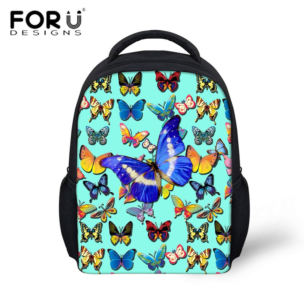 816a74f8d022 FORUDESIGNS 3D Printing Butterfly Backpack For Baby Kids Girls Small School  Satchels 3D Animal Kindergarten Girls Mini Backpacks Dakine Backpack Ogio  ...