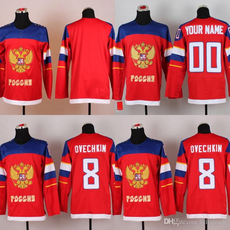 jersey 2018 2014 sochi winter olympics team russia 8 alex ovechkin any name any number personalized all