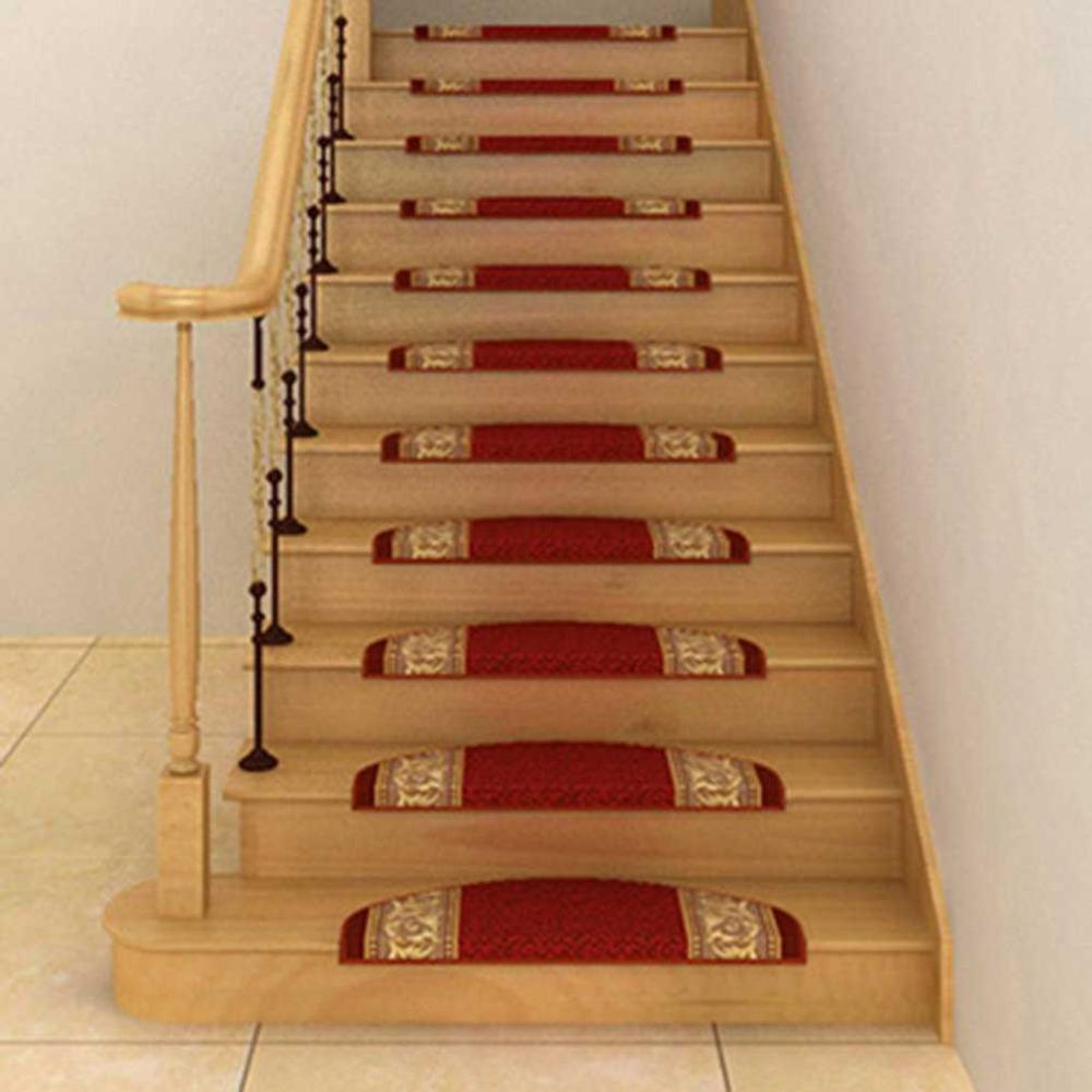 Anti Slip Self Adhesive Floor Staircase Carpet Home Office Hotel Decoration Stair  Tread Mats Rugs 24*65cm Drop Shipping Large Garden Cushions Outdoor Patio  ...