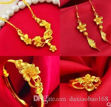 Wedding Set Birthday Gift Gold Ring European Currency Necklace