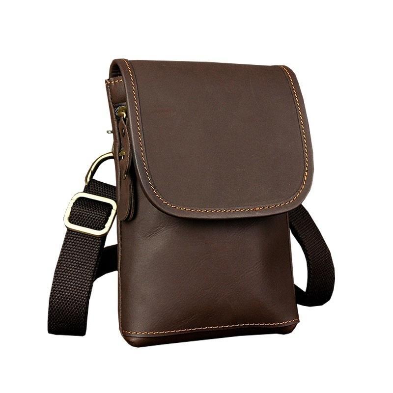 8c83b68e3a New Crossbody Bag Crazy Horse Leather Retro Trend Men Waist Packs Mobile  Phone Money Case For Male Travel Belly Fanny Pack Bag Backpacks For Girls  Messenger ...