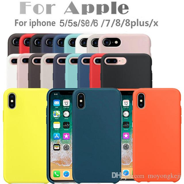72b2e83885b9 Original Silicone Case For Apple IPhone 7 8 Plus Phone Case For IPhone X  Back Cover For IPhone 6 5S 6S With Retail Box Silicone Cell Phone Cases  Ballistic ...