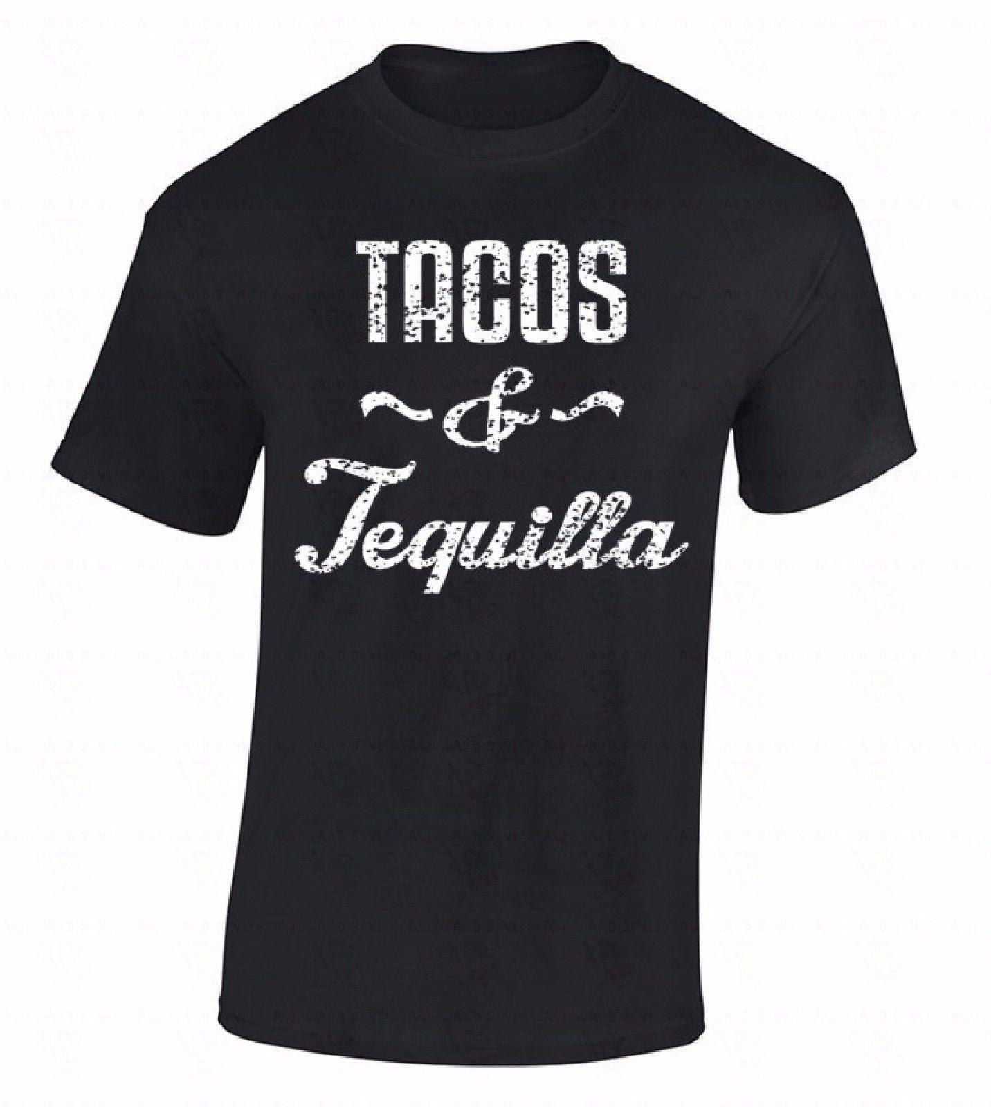d1b2bc4cf8becb Fashion Men Tshirt Tacos   Tequila T Shirt White Fashion Mexico Spanish  Shirt Drinking Eating Tee O Neck T Shirt Clever T Shirts Best Tee Shirts  From ...