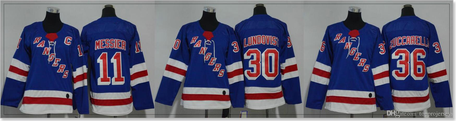 New York Rangers Womens  11 Mark Messier 30 Henrik Lundqvist 36 Mats  Zuccarello Ice Hockey Shirts Sports Team Jerseys Stitched Embroidery UK  2019 From ... fad906885