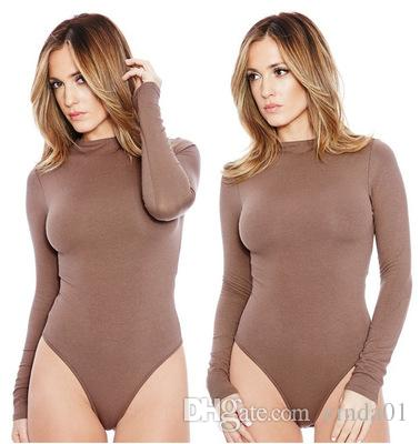 Mujeres Solid Curve Sumpsuits Mujeres Mangas largas Skinny Shapers Crew Body Body Slimming High Cintura Hembra RPERS S-XL EUR EE. UU.