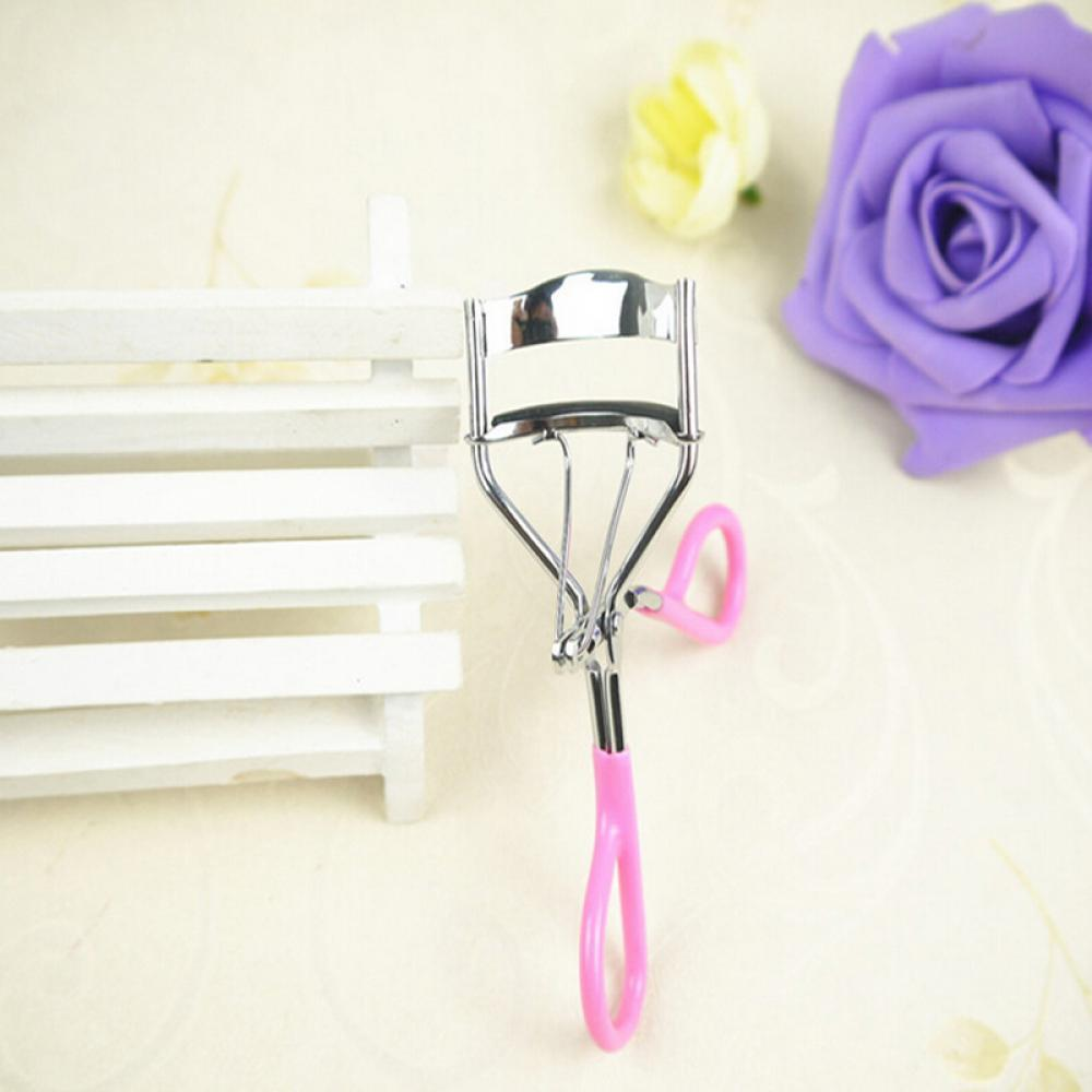 Pink Eyelash Curler Clip Beauty Eye Makeup Tool 1Pc Wonderful Pro Handle Eye Curling Portable Professional Lash Curler