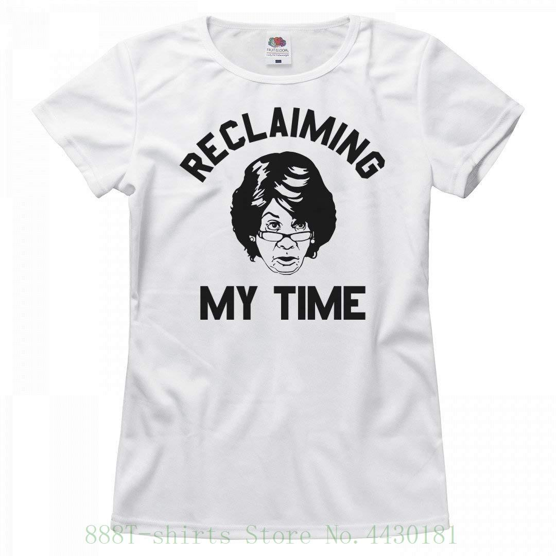 51b74d7f Women's Tee Maxine Waters Reclaiming My Time : Ladies Relaxed T ...